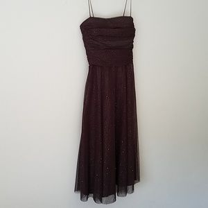 Jessica Howard Brown Strapless Cocktail Dress 6
